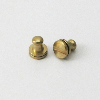 Solid Brass Button Stud 5 mm