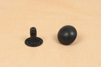 Domed Rivet <10 mm> - Dull Black -