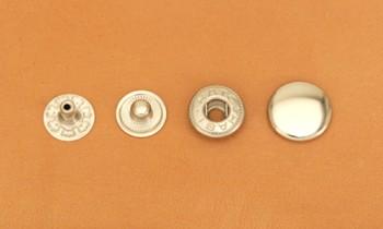 Spring Snap Fastener Solid Brass - Medium - Nickel