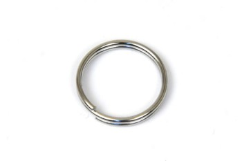 Double Split Key Ring - 15 mm - Nickel