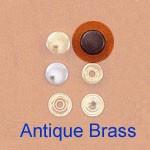 Snap Fastener - Antique Brass Plating - Small