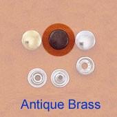Snap Fastener - Antique Brass Plating - Large