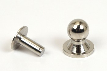 Sam Browne Buttons & Washers - Nickel -