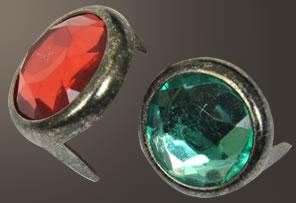 Acrylic Spot - Relic Nickel Ring (13 mm)  (5 pcs)
