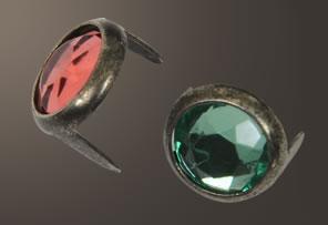 Acrylic Spot - Relic Nickel Ring (9 mm)  (10 pcs)