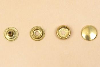 (J5) Brass Snap Fastener - Solid Brass Matte - Small
