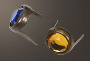 Acrylic Spot - Relic Brass Ring (7 mm)(10 pcs)