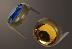 Acrylic Spot - Relic Brass Ring (11 mm)(10 pcs)