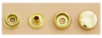 (J6) Brass Snap Fastener - Solid Brass Matte - Large