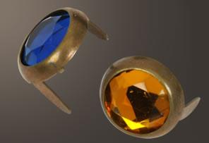 Acrylic Spot - Relic Brass Ring (13 mm)  (10 pcs)