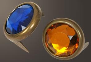 Acrylic Spot - Relic Brass Ring (15 mm)  (100 pcs)