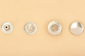 (B11) Spring Snap Fastener Solid Brass - Extra Large - Nickel