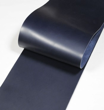 Leather  cut in 30cm width, LC Premium Dyed Leather Struck Through <Navy>(24 sq dm)