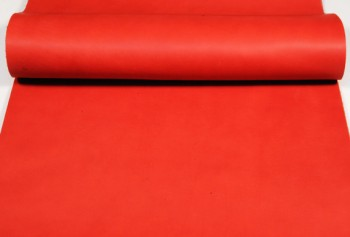 Leather cut in 60cm width, LC Premium Dyed Leather Struck Through <Red>