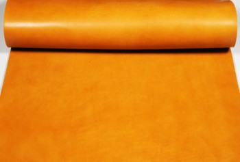 Leather cut in 60cm width, LC Premium Dyed Leather Struck Through <Tan>