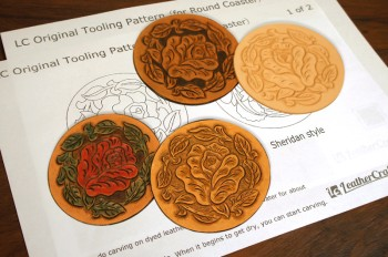 <Free Download> LC Original Tooling Pattern Template for Round Coaster(For Round Coaster)