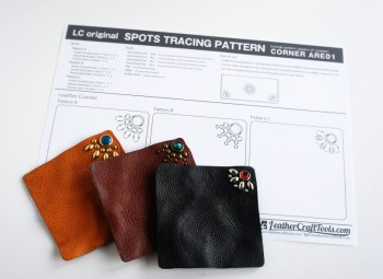 <Free Download> LC Original Spots Tracing Pattern Template - Corner ARE01 -