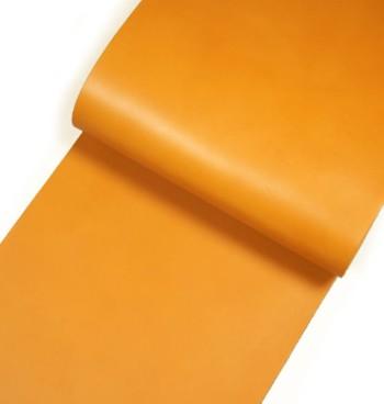 Leather cut in 30cm width, Tochigi Aniline Leather Classic<Yellow Ocher>(27 sq dm)