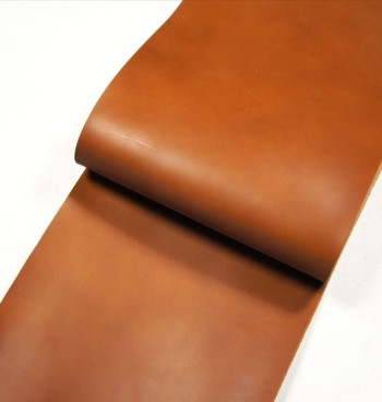 Leather cut in 30cm width, Tochigi Aniline Leather Classic<Brown>
