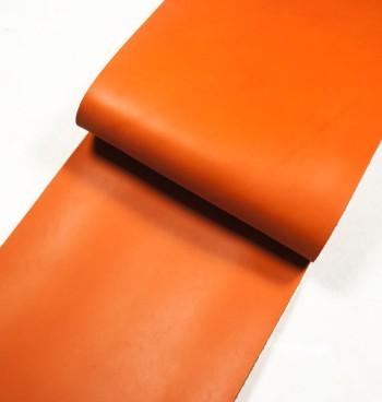 Leather cut in 30cm width, Tochigi Aniline Leather Classic<Orange>