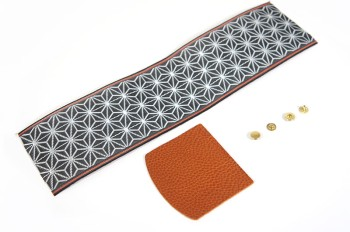 Tatami-beri & Leather Coin Case Kit - Leather Arizona(5 sets)