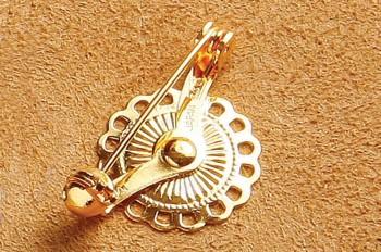 Flower Brooch Pin (5 pcs) - Gold -