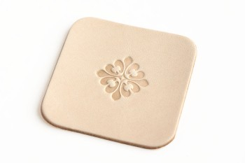 Leather Coaster <Gothic Pattern GF01> - LC Tooling Leather Standard