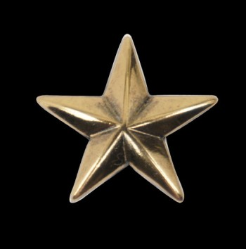 Star Concho - Solid Brass <19 mm>