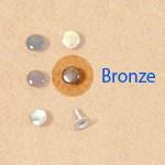 Single Cap Rivet 6 mm Bronze