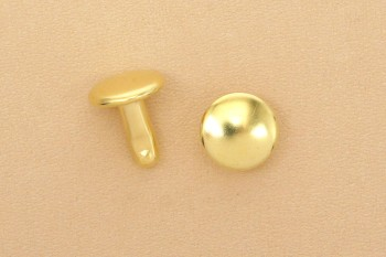 Long Double Cap Rivets Solid Brass 9mm