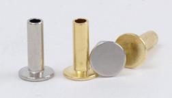 Tubular Rivet <Medium> Solid Brass (10 pcs)