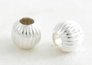 Silver Beads - Shell Shape