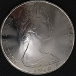 Queen Elizabeth II New Zealand 50 Cent Nickel