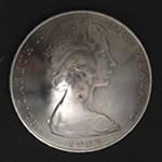 Queen Elizabeth II New Zealand 20 Cent Nickel