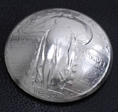 Old Standing Liberty Quarter <Screw Back>