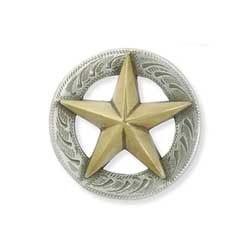 3-D Texas Star Concho <25 mm>