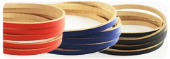 Pigmented Leather Lace 5 mm (10 straps)