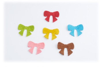 Pig Suede Charm ( Tied Bow )