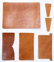 Card Case Kit - Hermann Oak Harness Leather (1 set)