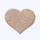 Leather Charms <Backing Charm> Heart (small)(1pc)