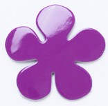 Leather Charms <Enamel> Flower (large)(5pcs)