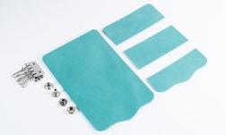 Key Case Kit - LC Premium Dyed Leather Struck Through