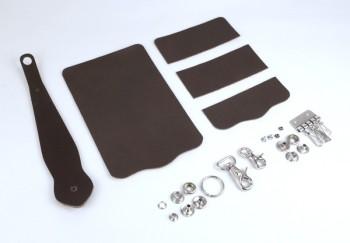 Key Case with Key Fob Kit - Hermann Oak Bridle Leather