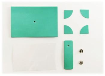 Leather photo frame - Mini Kit < LC Premium Dyed Leather Struck Through >
