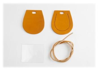 Luggage Tag Kit -  Horseshoe  < Oiled Leather >