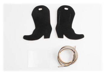 Luggage Tag Kit - Western Boots < Oiled Leather >