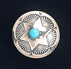 Silver Concho with Turquoise