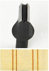 Swivel Knife - Double Line Blade No.2 (2.5 mm)