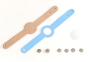kids Name Bracelet Kit - LC Premium Dyed Leather Struck Through (5 sets)