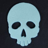 Leather Charms Skull  (large)(5pcs)